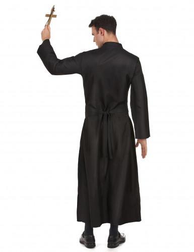 Priester Kostüm Pfarrer schwarz-weiss-2