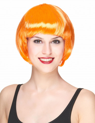 Kurzhaar-Damenperücke orange