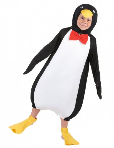 Pinguin-Kinderkostüm Tier schwarz-weiß-gelb