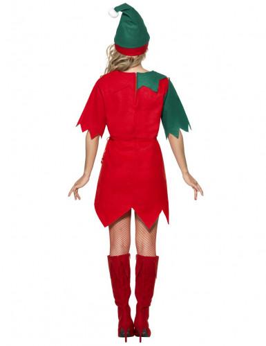 Weihnachtswichtel Damenkostüm Elfe rot-grün-1