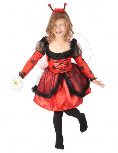 Süßes Marienkäfer Kinderkostüm rot-schwarz