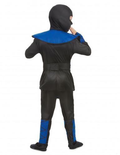 Gefährlicher Ninja Kinderkostüm Krieger schwarz-blau-2