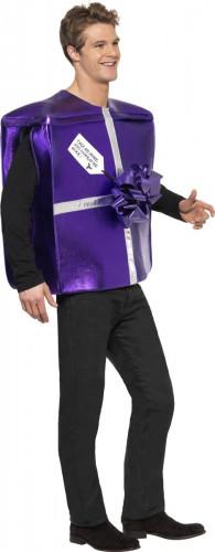 Geschenk Kostüm Weihnachten lila-silber-2