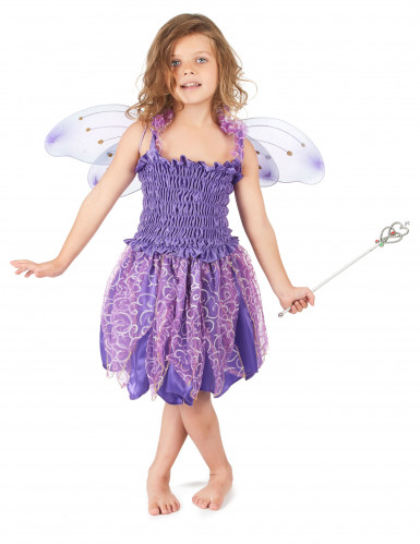 Bezaubernde Fee Kinderkostüm Elfe violett