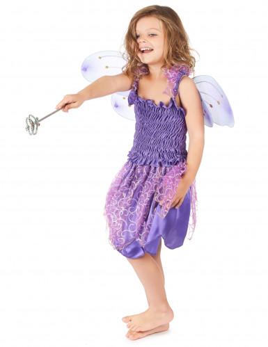 Bezaubernde Fee Kinderkostüm Elfe violett-1