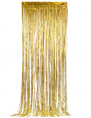 Glitzervorhang Deko-Vorhang gold