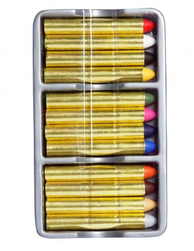 Make-Up Schmink-Stifte 12 Farben bunt 19,2g