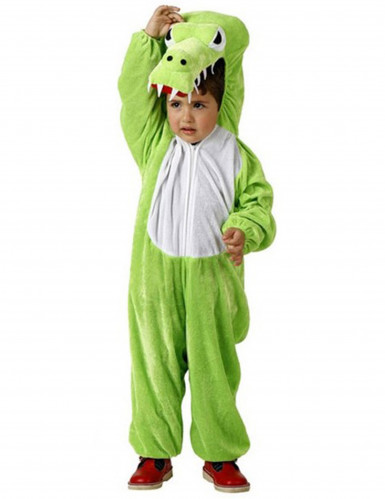 Süsses Krokodil Kinderkostüm Drache grün