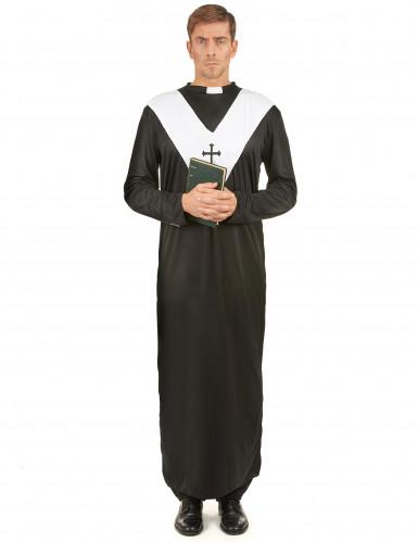 Priester Herrenkostüm schwarz-weiss