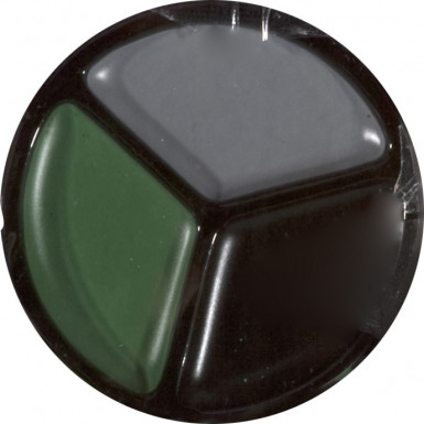 Militär-Schminke Soldaten camouflage grau-grün-schwarz 4,2g