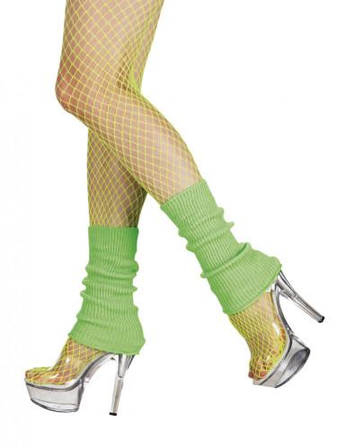 80er Jahre Stulpen Beinstulpen neon-grün