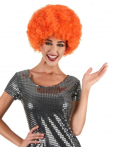 Afro-Perücke orange