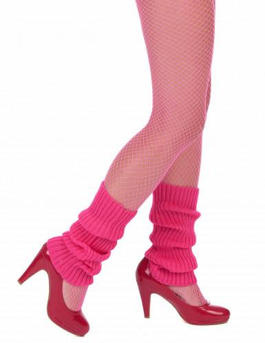 80er Jahre Stulpen Beinstulpen neon-pink