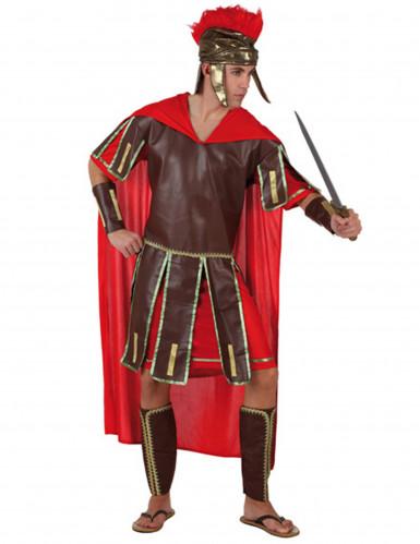 Herren-Kostüm Römischer Zenturio braun/rot