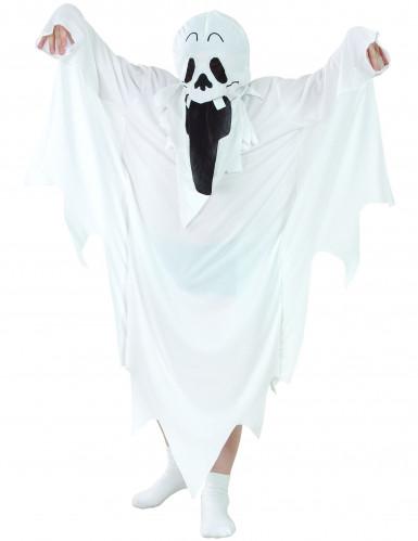 Gruseliges Geist-Kostüm für Kinder Halloween-Kinderkostüm Gespenst weiss