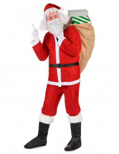 Weihnachtsmann Komplett-Kostüm Weihnachten rot-weiss-1