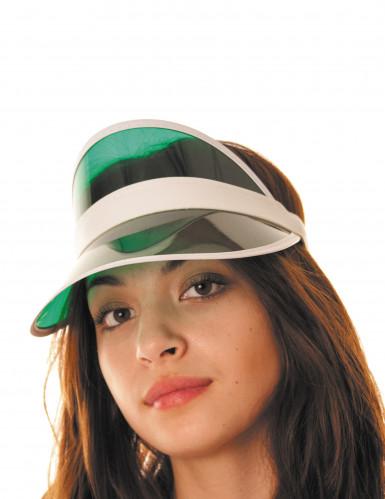 Schild-Mütze Kappe grün-weiss