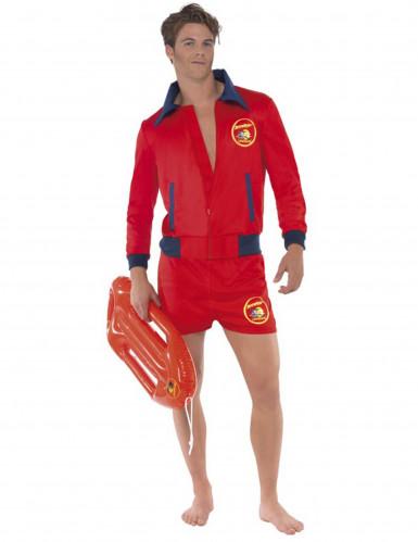Rettungsschwimmer-Kostüm Baywatch™-Lizenzkostüm rot