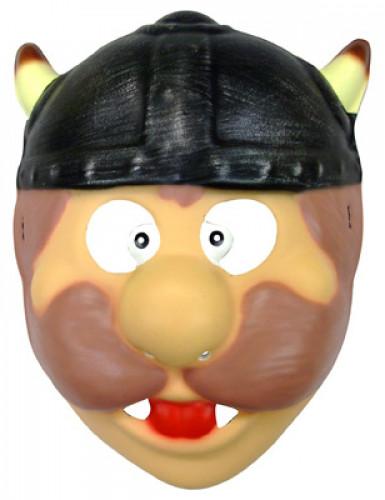 Wikinger-Maske Kinder beige-bunt