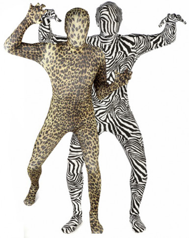 morphsuits zebra und leopardenkost m f r paare schwarz. Black Bedroom Furniture Sets. Home Design Ideas