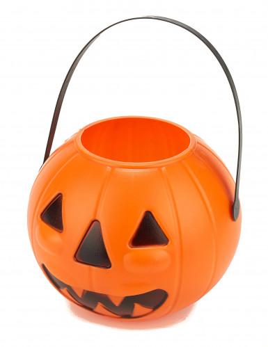 Kürbis-Eimer Halloween-Eimer orange-schwarz