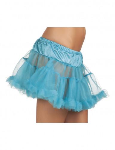 Schicker Tüll-Petticoat Unterrock blau