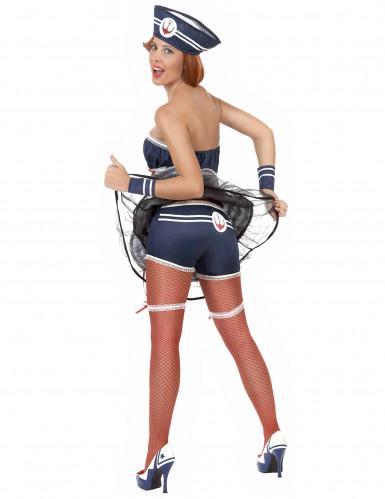 Sexy Matrosin Damenkostüm Seefahrerin blau-weiss-rot-1