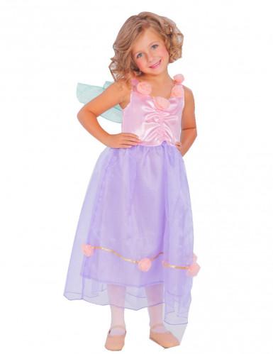 Süße Fee Kinderkostüm lila-rosa