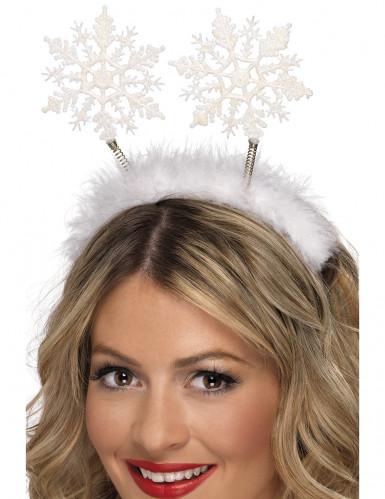 Schneeflocke Haarreif weiss