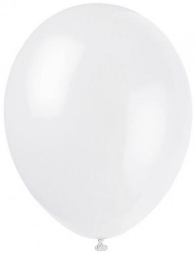 Luftballons Party-Deko 12 Stück weiss