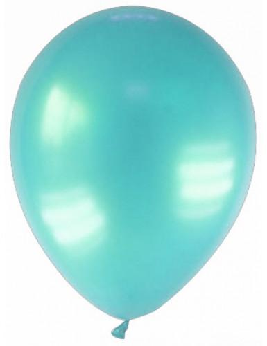 Party Zubehör Deko Luftballons 12 Stück türkis 28 cm