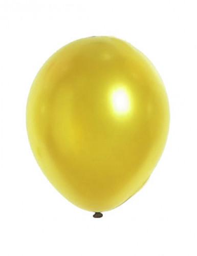 Metallic-Luftballons Party-Deko 12 Stück gold 28cm
