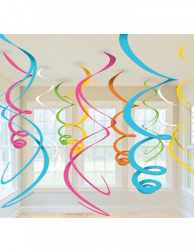 Hängedeko-Set Spiral-Deko bunt 55,8cm