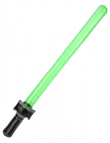 Aufblasbares Laserschwert grün-silber
