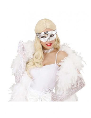 Augenmaske Venezianisch metallic-silber