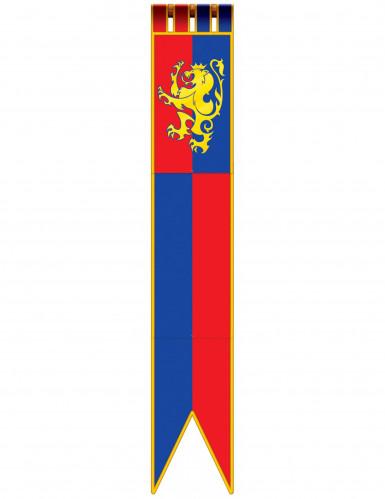 Hängedeko Raumdeko Ritter Mittelalter blau-rot-gelb 1,8m