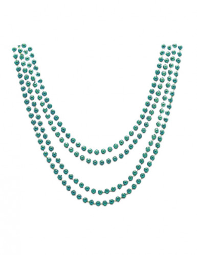 Metallic-Halsketten 4 Stück grün 81cm