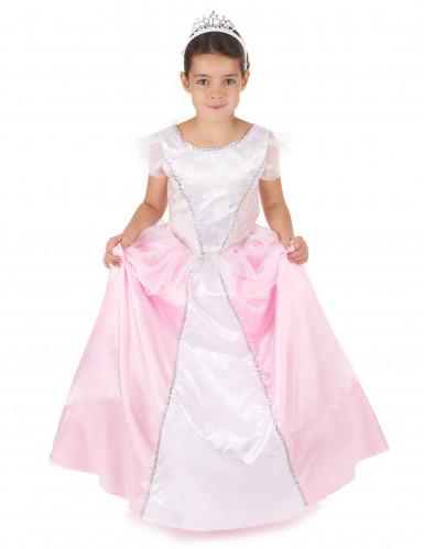 Edles Prinzessinnen-Kostüm für Mädchen rosa-weiss
