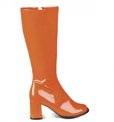 Sexy Stiefel Lack-Optik orange