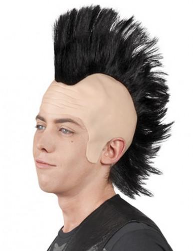 Punker-Perücke schwarz