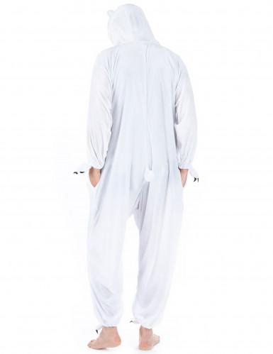 Eisbär Unisex-Kostüm Onesie weiss-2