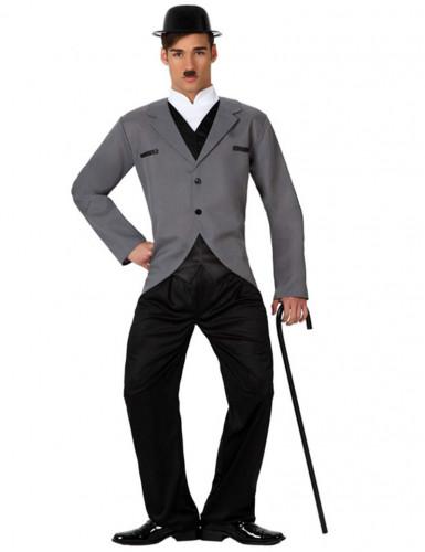 Slapstick-Künstler - Kostüm für Herren grau-schwarz