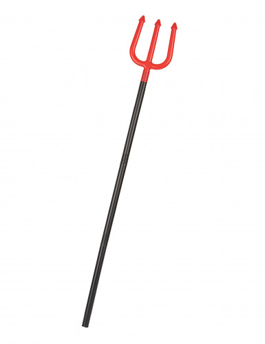 Dreizack Teufelsgabel Kostüm-Zubehör rot-schwarz 1,1m