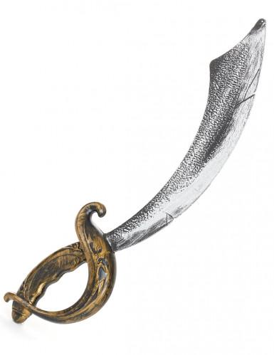 Piratenschwert für Kinder grau-schwarz-gold