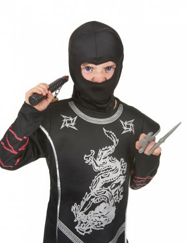 Ninja-Set für Kinder Nunchaku-Set grau-schwarz-1