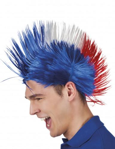 Französische Punker-Perücke Frankreich-Fanperücke