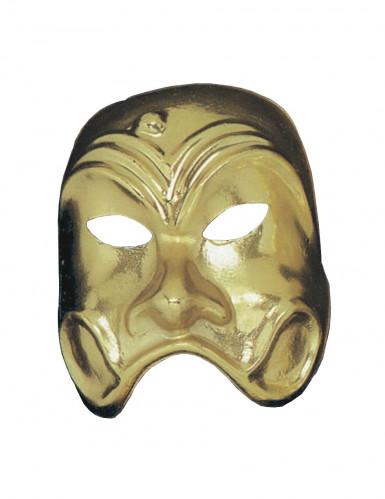 Theatermaske gold