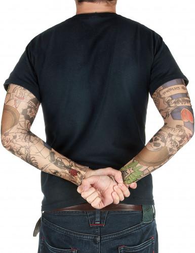 Rocker-Tattoo ärmel 38cm bunt