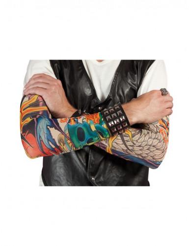Rocker-Tattoo ärmel bunt 38cm