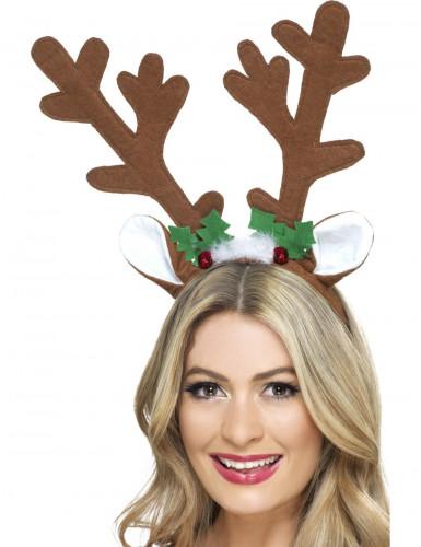 Rentier-Haarreif Weihnachten braun